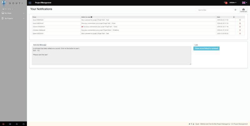 Des notifications ciblées en gestion de projet